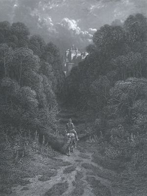 "Gustave Doré Plate XX - ""Lancelot Approaching the Castle of Astolat,"" circa 1867-69"