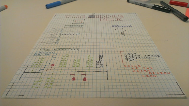 The Riddle Box - Graph Paper Planning