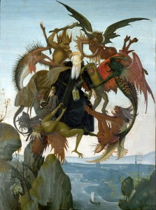 The Torment of Saint Anthon - Rumored to be Michelangelo's first painting.