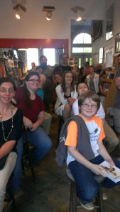Look, it's my whole fandom! This was a picture I took at my reading at Avid Bookshop.